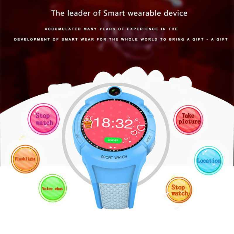 Q360 Kids Smart Watch with Camera GPS WIFI Location Child smartwatch SOS Anti-Lost Monitor Tracker baby WristWatch