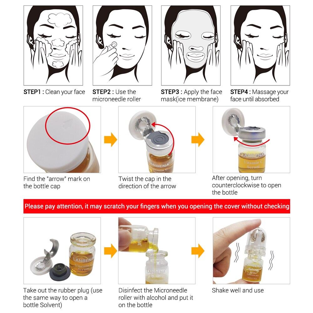 LANBENA Vitamin C Serum Lyophilized Powder Set Moisturizing Whitening Nourishing Remove Melanin Shrink Pores Repairing Skin Care