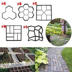 Multi Type DIY Garden Plastic Path Maker Model Concrete Stepping Stone Cement Mould Brick Home Garden Tools Decor
