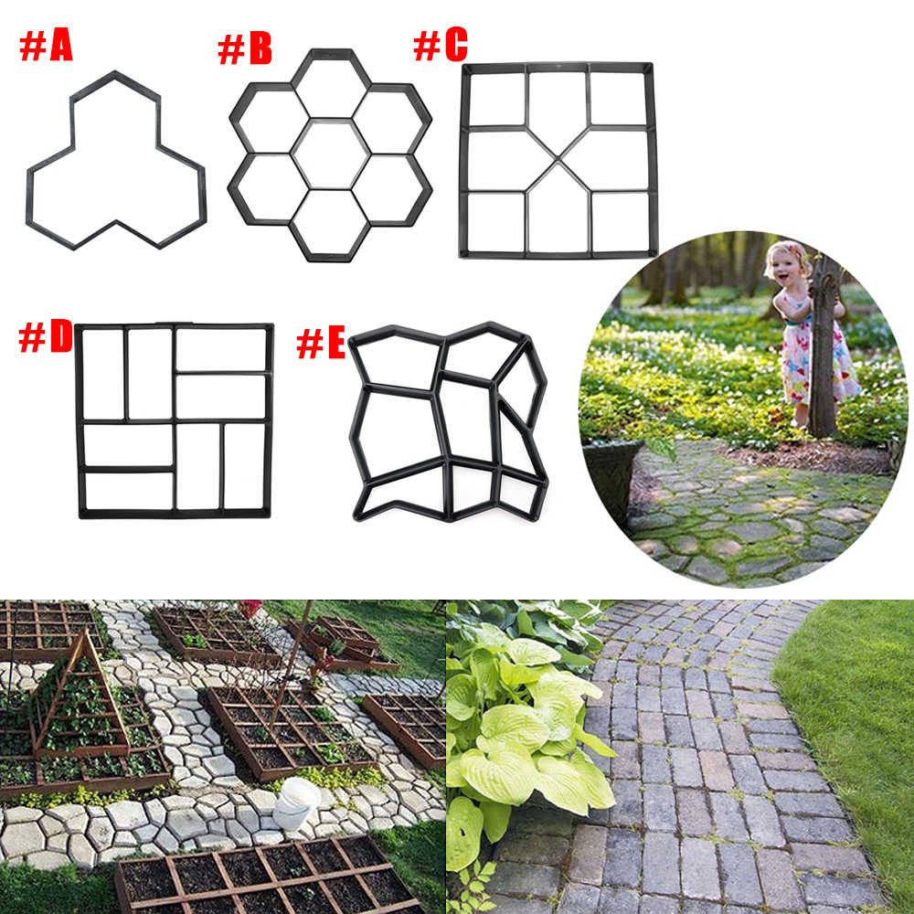 Detail Feedback Questions About Multi Type Diy Garden Plastic Path Maker Model Concrete Stepping Stone Cement Mould Brick Home Tools Decor On