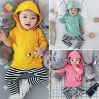 Lemonmiyu Baby Baby Girl Boy Clothes Full Sleeve Cartoon Cute Newborn Baby Clothing Hooded Spring Autumn Cotton Baby Girl Outfit