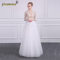A177 Real Photo Sexy Wedding Dress 2018 Pearls Crystal Beaded Lace Bridal Gown Factory Custom Made wedding dresses mariage gowns
