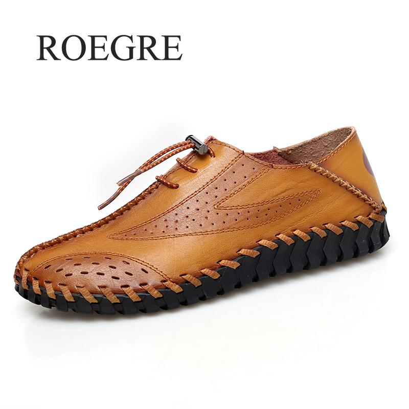 Men's Driving Shoes 2019 Men Genuine Leather Loafers Shoes Fashion Handmade Soft Breathable Moccasins Flats Slip On Shoes 38-47