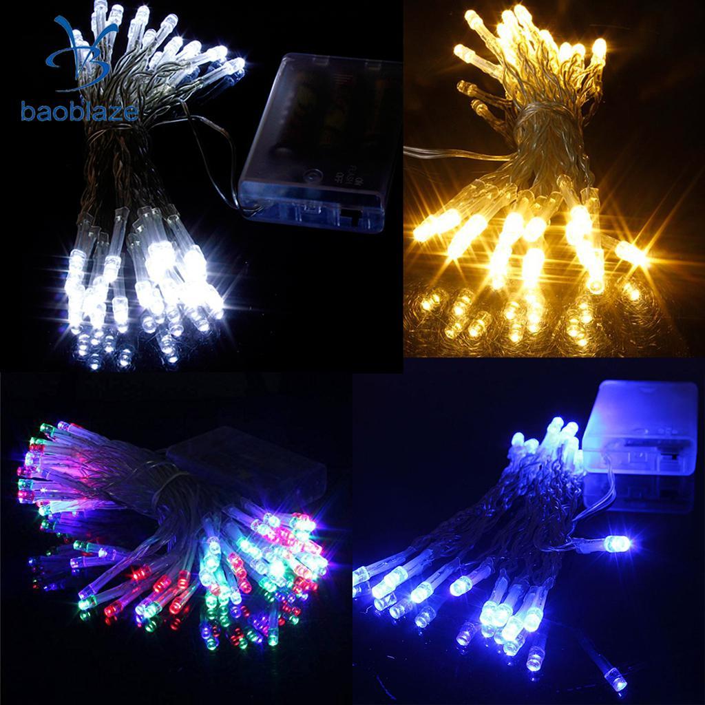 Baoblaze Bright 20-LED Battery Operated Christmas Wedding String Fairy Lights Warm White Apply to Birthday Party Illumination