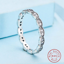 Vintage solid 925 Sterling Silver Ring Alluring Brilliant Marquise Stackable Finger Ring with Clear CZ Original Fine Jewelry