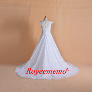 Image 3 - 2019 New Design lace Wedding Dress classic wedding gown real image factory made wholesale price bridal dress