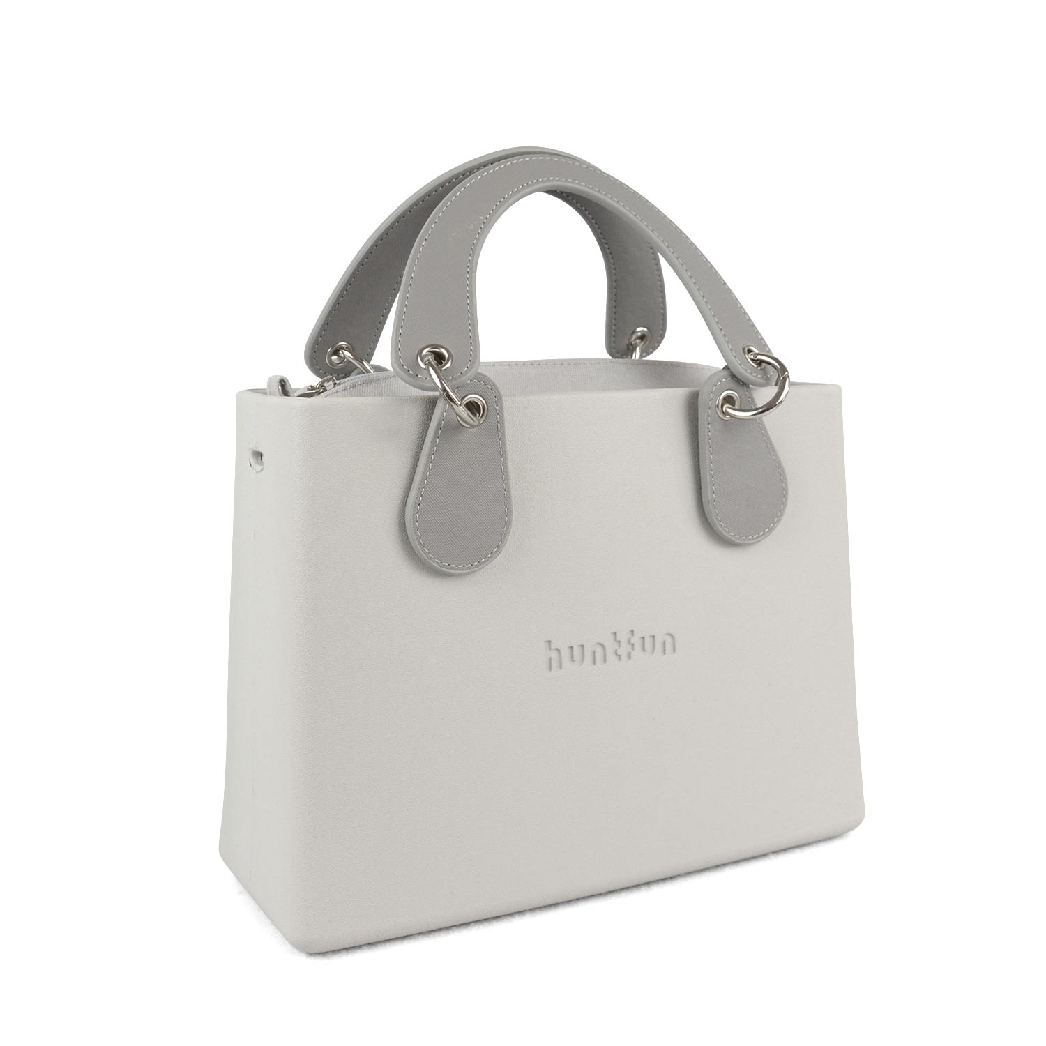 New huntfun Logo EVA Waterproof Square Bag O Bag Style Handbag with Removable Concise Curved Drop