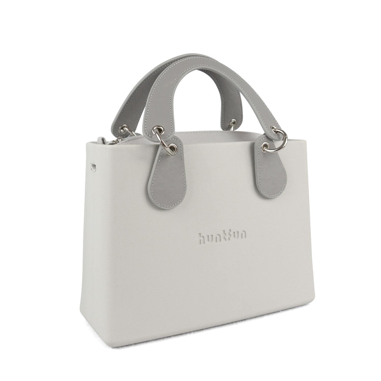 New huntfun Logo EVA Waterproof Square Bag O Bag Style Handbag with Removable Concise Curved Drop Handle Inner Pocket Women Obag
