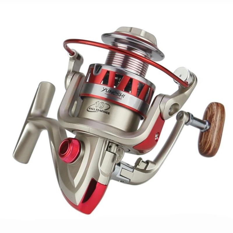 Yumoshi Brand Fishing Reel With Cnc Rocker Ultra Lightweight 10Bb 5.5:1 Spinning Reel Rod Combo Saltwater Sea For Carp Fishing Fishing Lines     - title=