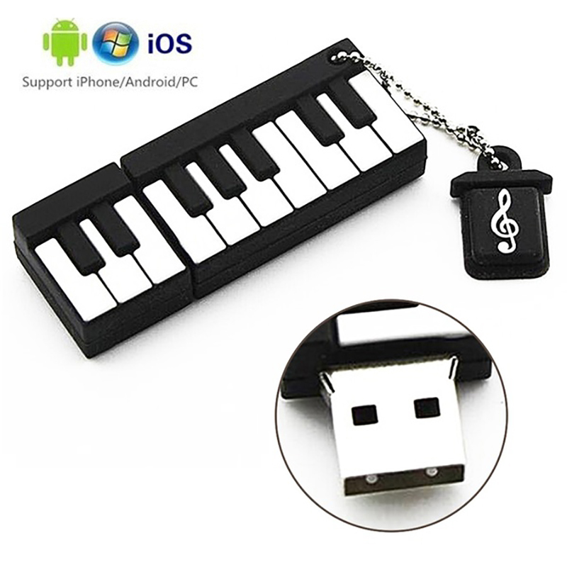 Piano Type Usb 3.0 Flash Drive 64GB 32GB Flash Drive Portable 128GB  Memory Stick Pendrive Storage Flash Disk 16GB 8GB Converter