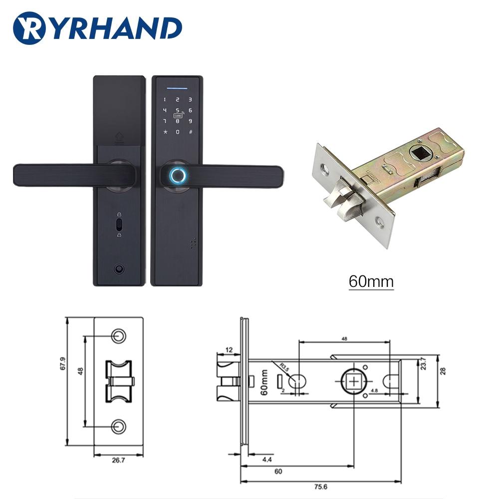 Tuya Biometric Fingerprint Lock, Security Intelligent Smart Lock With WiFi APP Password RFID Unlock,Door Lock Electronic Hotels