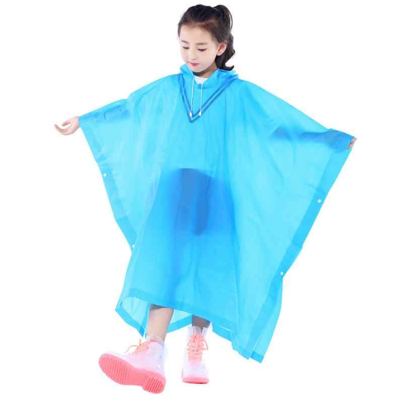 dependable performance new style superior performance EVA Transparent Waterproof Kids Raincoat Non Disposable Children Rainwear  Outdoor Travel Rain Gear Student Poncho