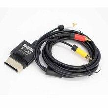 Dla XBOX 360 1.8m Audio wideo AV kabel kompozytowy wideo RCA kabel AV dla Microsoft Xbox 360 Slim