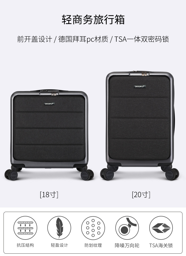 Casual Travel Trolley Luggage Aluminum Frame Alloy Business Rolling Luggage Airplane Suitcase Spinner Wheels 20inch (2)