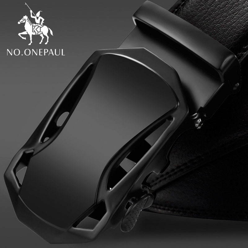 NO.ONEPAUL Belt For Man Automatic Buckle Men Belts Genuine Leather Luxury Designer Strap Male Jeans Cintos Masculinos Ceinture