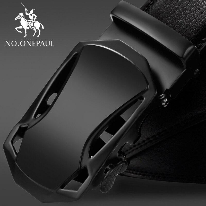 NO.ONEPAUL Belt For Man Automatic Buckle Men Belts Genuine Leather Luxury Designer Strap Male Jeans Cintos Masculinos Ceinture