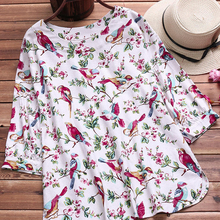 AOWOFS Cartoon Women's Loose Chiffon Three Cats Tops Long Sleeve Casual Blouse Autumn