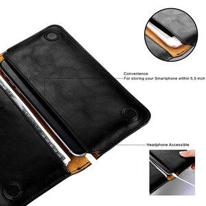 Image 3 - FLOVEME étui pour iphone en cuir véritable 7 6 6 S Plus pour Samsung S6 S7 edge Huawei P9 P10 Plus Xiaomi Capa