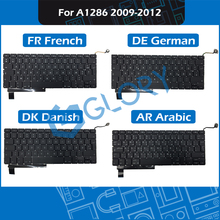 10pcs/Lot A1286 Replacement Keyboard For Macbook Pro 15.4″ 2009-2012 FR French DE German DK Danish AR Arabic Layout