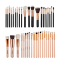 Pro 20Pcs/Set Rose Gold Black Big Makeup Brushes Set Tube Handle Foundation Powder Blush Comestic Brushes Kit GUB#