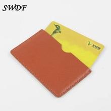 2017 Free Shipping Unisex Women Genuine Leather Handbag Single Fresh Clutch Wallet Holder Of The Credit Card ID Card Holder Bag