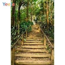 Yeele Merdiven Orman Orman Ağaçları Bahar Manzara Fotoğrafçılık Arka Plan Özelleştirilmiş Fotoğraf Fotoğraf Stüdyosu için Arka Planında
