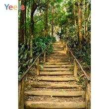 Yeele Trappen Jungle Bos Bomen Lente Landschap Fotografie Achtergronden Aangepaste Fotografische Achtergronden voor Foto Studio