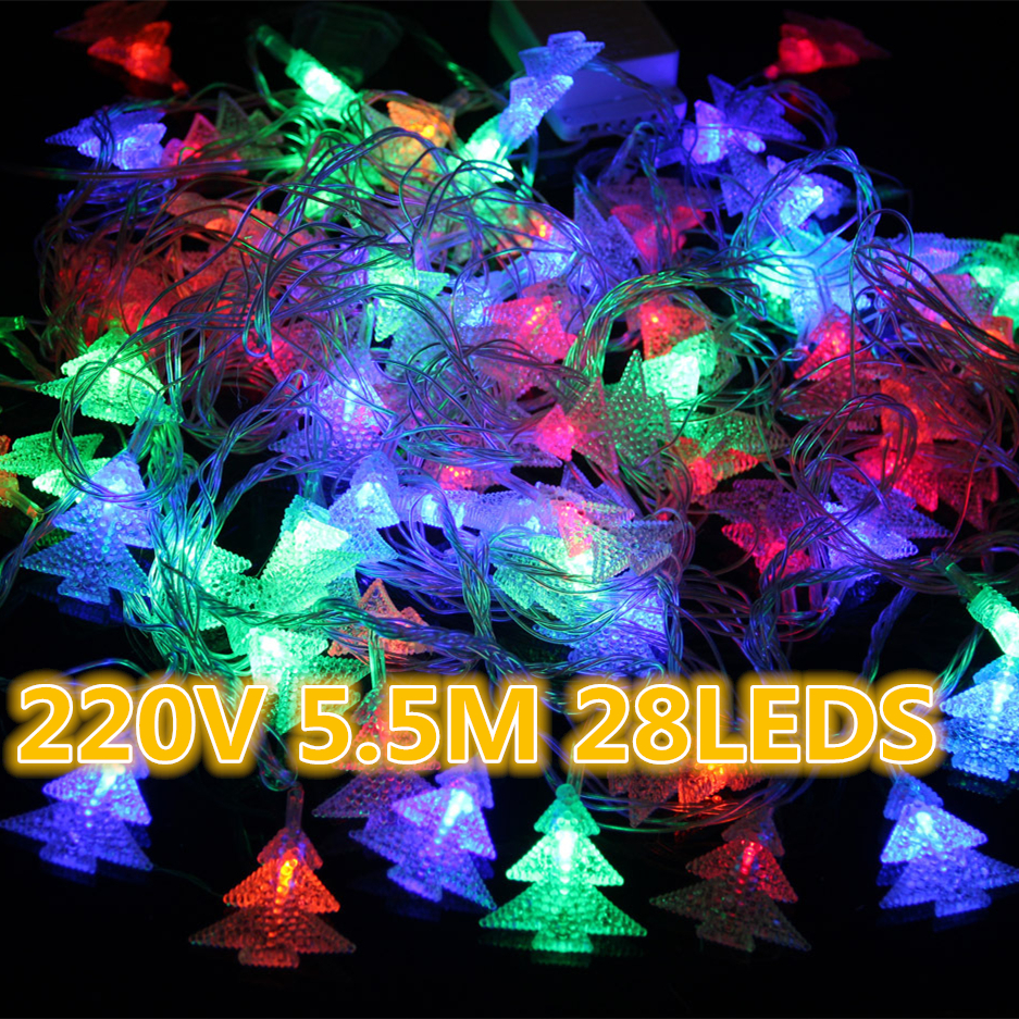 Led String Lights For Christmas Trees : Holiday lighting LED Christmas tree string lights Colorful 5.5 m 28 leds waterproof Garland ...