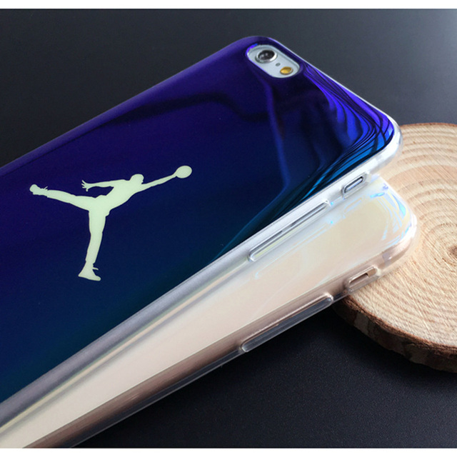 Cool Jordan Basketball Case For Apple iphone  6 6S 6Plus 4.7″ 5.5″ Inch Phone Cases Blue Light Mirror Case Back Cover Fundas