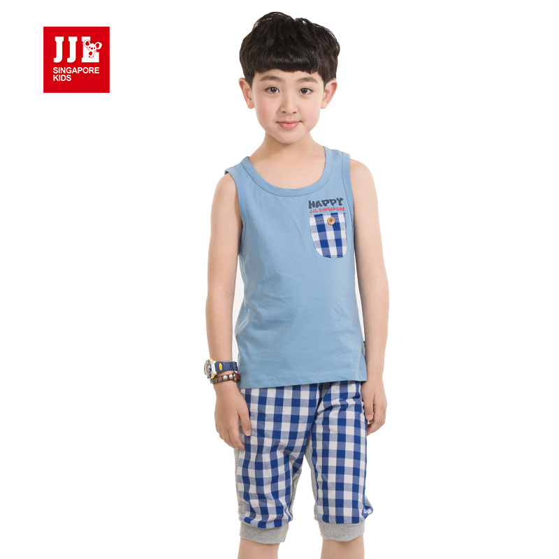 boys fashion cotton suit kids leisure outfits summer boys clothing 2015 boys summer suits