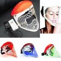Terapia Światłem Led Maska 3 Kolorów Fotonu Skóry PDT Do Obiegu Krwi Łagodzi Stres Na Piękno Pielęgnacji Skóry