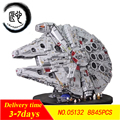 Nuevo Plan de estrellas último bloques de construcción fuerza Despertadores Millennium Set Falcon modelo fitlegoings 75192 juguetes chico regalo de Navidad