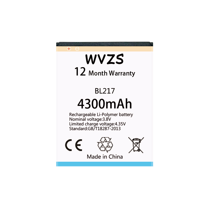 wvzs 4300mAh li-Poplymer <font><b>Battery</b></font> BL217 For <font><b>Lenovo</b></font> <font><b>S930</b></font> S939 S938t Replacement <font><b>Batteries</b></font> image