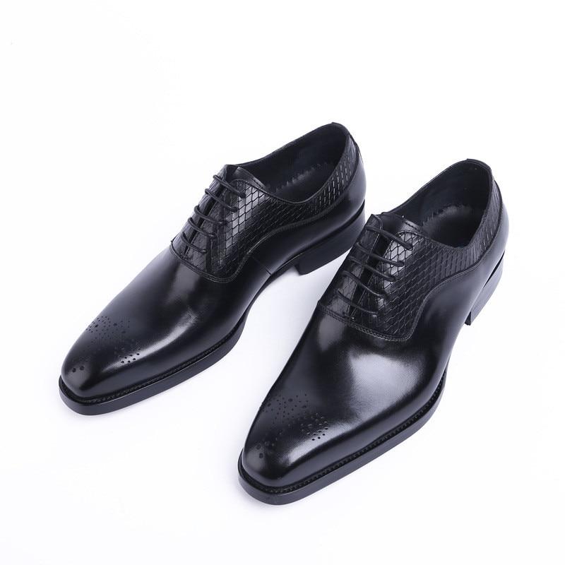 2018 Square Toe Men Soft Genuine Leather Flats Luxury Lace-up Wedding Shoes Men Business Dress Shoes Gentlemen Loafers JMH-A0023 italians gentlemen пиджак