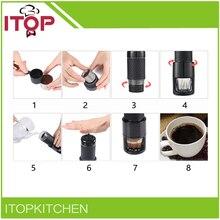 ITOP Mini portable espresso coffee machine ice coffee pot outdoor simple hand Electric Coffee Maker