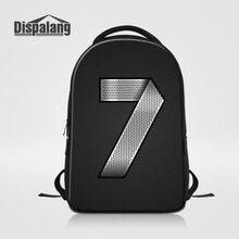 Dispalang Прохладный Черный Школьный Рюкзак Для Студентов Колледжа Рюкзак Высокое Качество Сумка Для Ноутбука Мужчины Женщины Школьный Mochila Mujer
