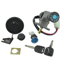 Moped Scooter Ignition Keys Switch Kit Set for 50cc 125cc 150cc with 4 pin plug