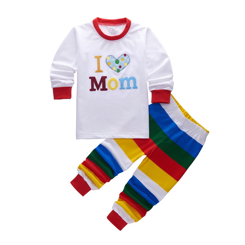 76e80af46d Kids Pajamas Cotton Children Sleepwear I Love Dad Long Sleeves Night wear  Pijamas For Boys I Love Mom Bebe Sleeping Clothes Sets