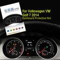 Alta Quilaty Automóvel Carro Dedicado HD 4 H Protetor de Tela Para Volkswagen VW Golf 7 2014 Dashboard Instrumento Película Protetora