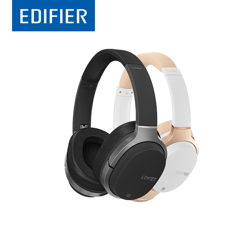 EDIFIER W830BT HIFI Bluetooth Headphones Noise Isolation Wireless Over-Ear Bluetooth 4.1 Headset Support NFC Apt-X Built-in Mic
