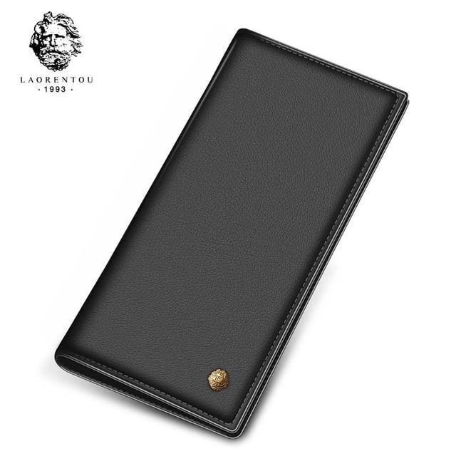 Новое поступление 2017 года Laorentou длинные Стиль Для мужчин кошелек из мягкой кожи с карт памяти для Бизнес Для мужчин кожаный бумажник сцепления Сумки