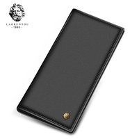 2017 New Arrival Laorentou Long Style Men Wallet Soft Leather With Card Slot For Business Men