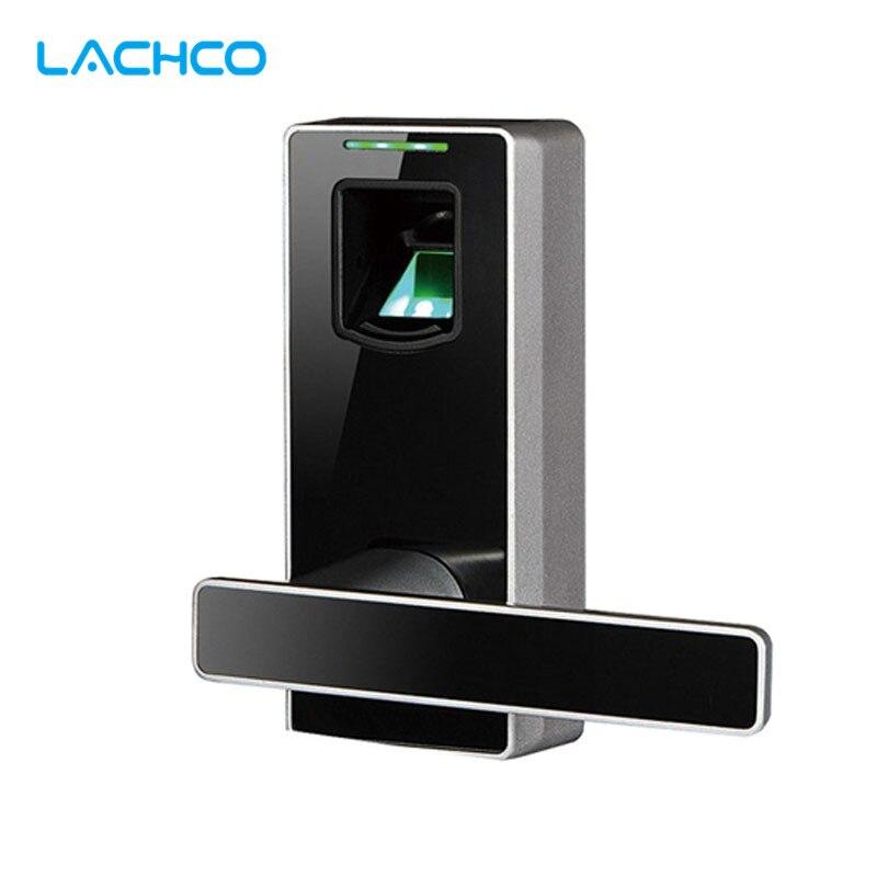 LACHCO Black Fingerprint Biometric Door Locks Keyless Door Lock Smart Entry Access Control  L16089MB thai menu biometric fingerprint door