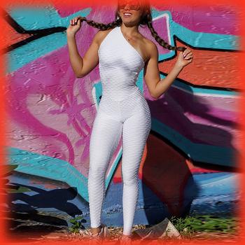Nowe Backless Fitness odzież kombinezony joga zestaw odzież sportowa dla kobiet siłownia One Piece dres ubrania do ćwiczeń dla kobiet tanie i dobre opinie Lovmove Poliester WOMEN Drukuj Bez rękawów Sprężone Szybkie suche Oddychająca Pasuje prawda na wymiar weź swój normalny rozmiar