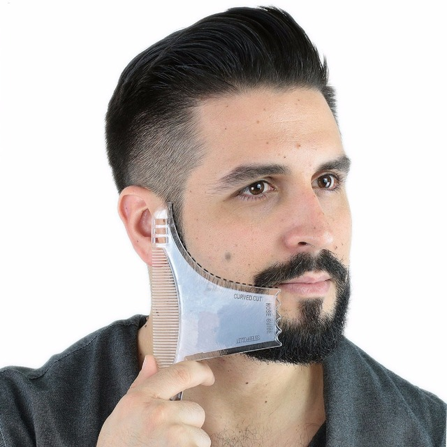 US $2 56 10% OFF|Aliexpress com : Buy Best Beard Shaping Tool [8 in 1]  Beard Comb Multi liner Beard Shaper Template Comb Kit Transparent Works  with