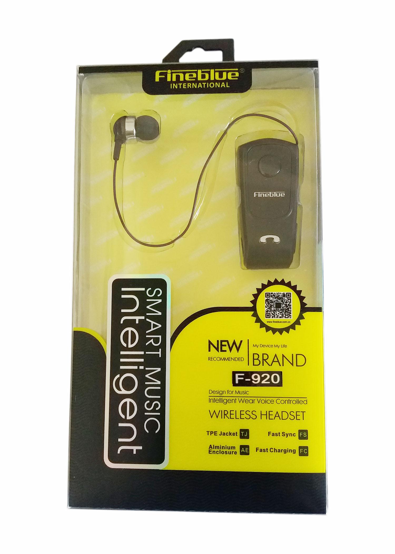 FineBlue F920 Mini Bluetooth Headset Remind Vibration Wear Clip Sports Running Earphone for Phone new fineblue f960 wireless driver bluetooth earphone headset calls remind vibration wear clip sports running headphone for phone