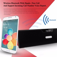 SARDiNE Portable Bluetooth Speakers With Alarm Clock Super Bass Wireless Stereo Music LCD Time Display FM