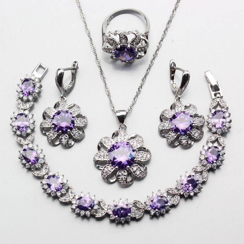 Wedding Purplel Zircon 925...