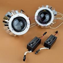 2.5 pulgadas Del Coche CCFL Angel Eyes Faros de Halo HID Bi xenon lente Del Proyector H1 H4 H7 Car Styling Retrofit Lentes de Los Faros de Xenón