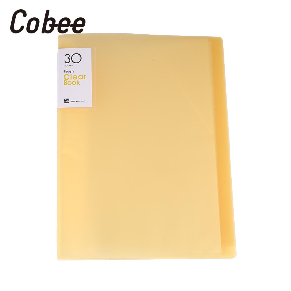 A4 Files Document Display Book Folder Portfolios 30 Pockets Holder Storage